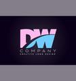 dw alphabet letter join joined letter logo design vector image