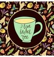i love herbal tea vector image