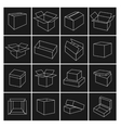 Icons box vector image