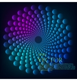 Rainbow vortex background vector image