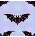 Seamless cute background with bats vector image
