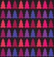 Seamless pattern of Christmas treeTree pattern vector image