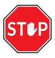 stop sign on white backgroun vector image