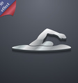 swimmer icon symbol 3D style Trendy modern design vector image