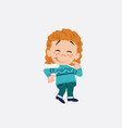 white girl with sweater with funny expression vector image