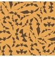 Brown Cartoon Bat Seamless Pattern vector image