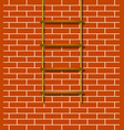 wooden rope ladder in brown design vector image