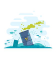 ocean disposal of radioactive waste vector image