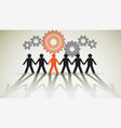 Human unity vector image