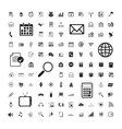icons set of business calendar documents vector image vector image