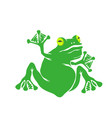 green cartoon frog isolated vector image