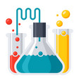 laboratory flasks icon vector image