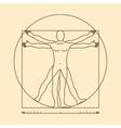 Leonardo da vinci vitruvian man vector image