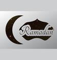 ramadan crescent paper template background vector image