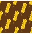 Seamless yellow ripe wheat spikes pattern vector image