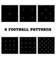Set seamless pattern Football ball vector image
