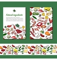 Template with different vegetables For your vector image