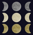 yellow gray white moon vector image