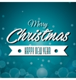 merry christmas and happy new year label grahic vector image