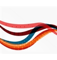 Color overlapping wave stripes abstract vector image