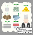 financial icon plan money investment vector image