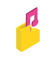 music file symbol vector image