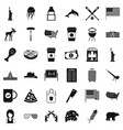 american icons set simple style vector image