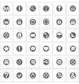 Basic icons set vector image
