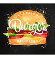 Burger chalk vector image vector image