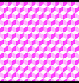 Pink Geometric Volume Seamless Pattern Background vector image