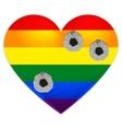 Rainbow flag gay LGBT flag heart Rainbow heart vector image