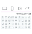 Digital technology icons vector image