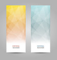 abstract geometric triangular banners vector image