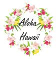 Aloha hawaii vector image