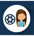 athlete girl football sport style vector image