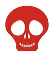 cute skull icon vector image