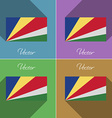 Flags SEYCHELLES Set of colors flat design and vector image