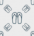 Flip-flops Beach shoes Sand sandals icon sign vector image
