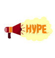 hype in social networks trends in advertising and vector image