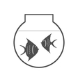 monochrome icon set with aquarium vector image