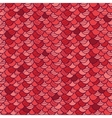 Red roof tile seamless pattern background vector image