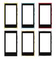 smartphone white screen template vector image
