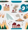 Natural disaster icon set pattern vector image