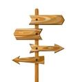 Wooden direction signpost way wood vector image vector image