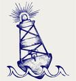 Warning buoy vector image vector image