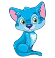 cute cat on a white background vector image
