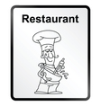 Restaurant Information Sign vector image vector image