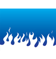 Simple white flames background vector image