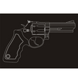revolver outline vector image