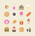 458fast food on food truck vector image